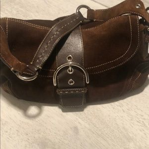 Coach Brown Suede and Leather Bag